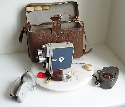 Vintage Eumig CINE CAMERA with case -  made in austra & Bell & Howell Sportster