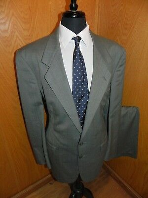 Christian Dior Mens Suit 44L 36 X 29 Light Gray Check  T#6