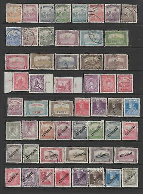 Hungary 1916 - 1920 collection , 176 stamps.