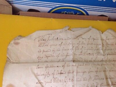 Old Oxfordshire Document 1683 Maybe Arncote? Standard Family Seen Carter, Tatty