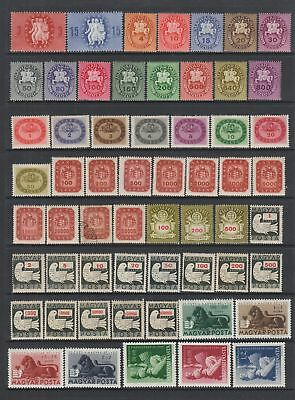 Hungary 1946 - 1949 collection , 172 stamps MH or used
