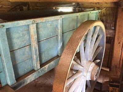 antique wooden wagon 5' wooden wheels