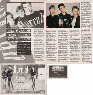 HURRAH : CUTTINGS COLLECTION -adverts interview-