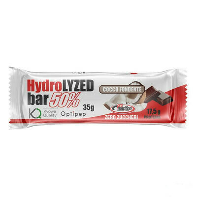 PRONUTRITION Hydrolized bar ZERO zuccheri gusto FONDENTE E COCCO 24 barrette