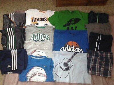 Boy Size 7 Lot Shirts Shorts Adidas, Nike, Abercrombie Fitch, Gymboree, EUC