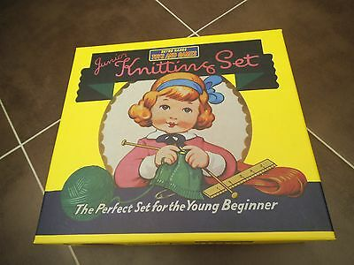 retro knitting set for begginers for girls NEW