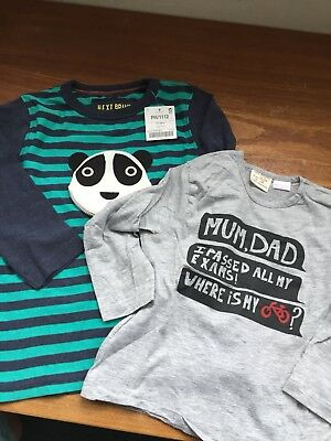 Boys long sleeve t shirts 18-24 months Next and Zara