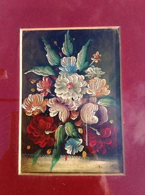Stunning Antique French Oil Painting Floral Still Life 19th.C Framed Rustic Chic