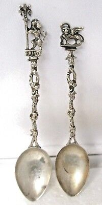 2,ANTIQUE   Silver  Spoons