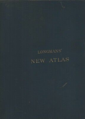longman's new atlas 1889 old maps u.s. map with indian territory