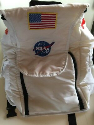 Aeromax Jr. Astronaut Nasa Backpack White w/ Patches