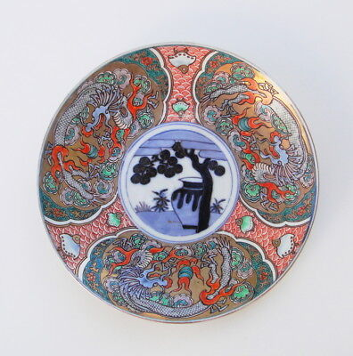 Fine Antique Japanese Edo Period Imari Porcelain Charger