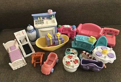 Lot Of Mattel And Other Dollhouse Miniatures