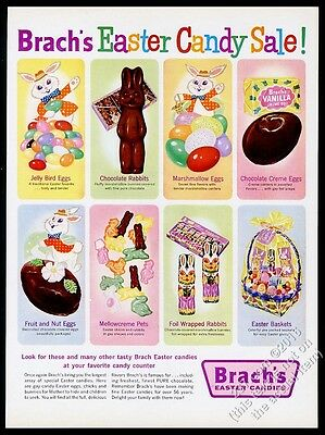 1961 Brach's Easter candy chocolate bunny rabbit marshmallow egg etc print ad