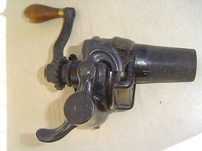 working hand crank wooden barrel oil pump with meter enterprise antique vintage