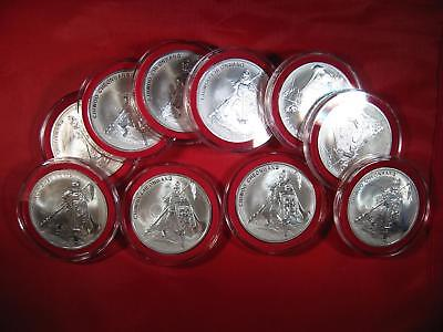Lot of 10 2016 South Korea Chiwoo Cheonwang 1 oz Silver BU Medal Sealed KEY DATE