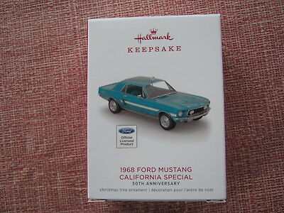 2018 Hallmark Keepsake 1968 Ford Mustang California Special Limited Ed. 50Th