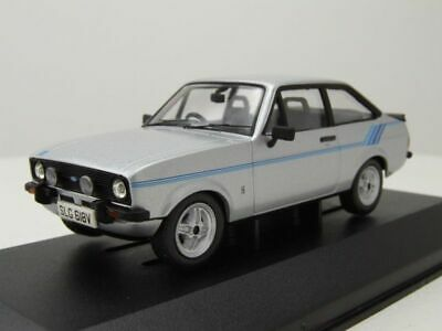 FORD ESCORT MK II 1.6 Harrier 1980 ARGENTO 1:43 CORGI VANGUARDS va 12611