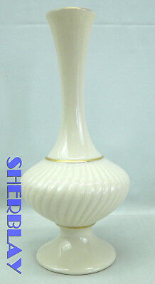 Fluted Bud Vase Vintage Lenox SAVOY COLLECTION Made in USA 24 Carrot Gold Trim