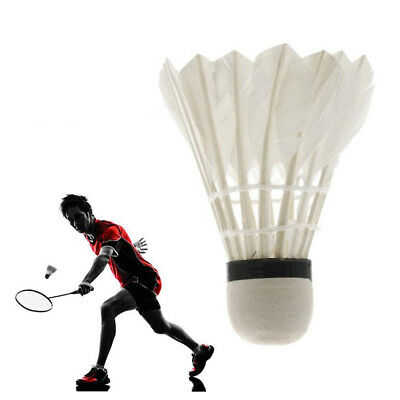 6/12Pcs White Goose Feather Badminton Ball Shuttlecocks Sport Training Game