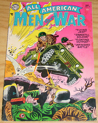 All American Men of War #16 FN- december 1954 - golden age dc comics flying jeep