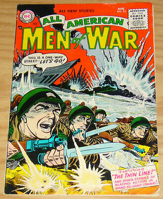 All American Men of War #24 FN- august 1955 - the thing line - golden age dc