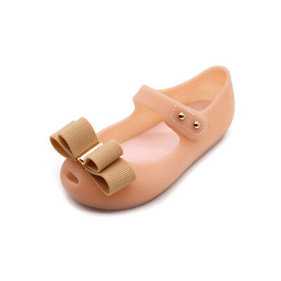 AU Summer Children Kids Girl Princess Cute Bow Jelly Sandals Waterproof Shoes