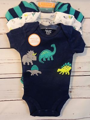 just one you by Carter's 3-Pack Short-Sleeved Bodysuits - Dinos - Size 6 mo