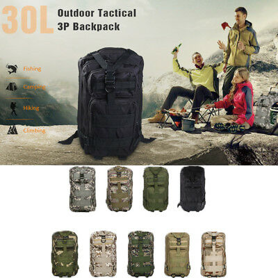 ee59704a53f9 30L Backpack Sports Bag Tactical Rucksack for Camping Traveling Hiking  Trekking