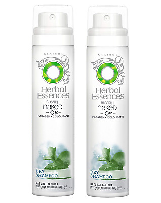 2x Herbal Essences Dry Shampoo Clearly Naked 0% Colourant 65ml
