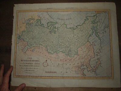 1785 Map The Russian Empire In Europe & Asia With Northern Discoveries By Bowen