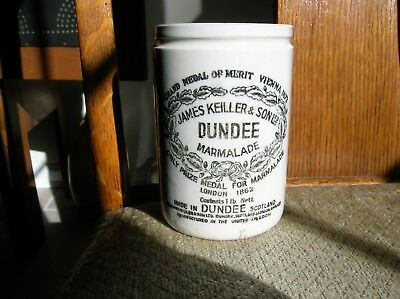 "Antique Dundee Marmalade Jar Crock James Keiller & ""son"" Ltd Pottery 1800's"
