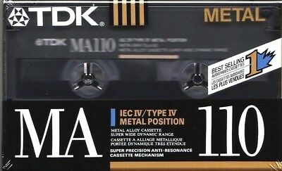 Tdk Ma 110 Metal Position Type Iv Blank Audio Cassette - Japan/Usa 1990