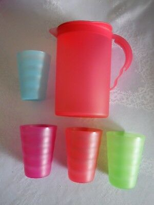 Tupperware Mini Tupperkids Impressions Pitcher and Tumblers