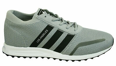 c318293fee1c Adidas Los Angeles Mens Trainers Lace Up Shoes Grey Black Textile BY9605 U37