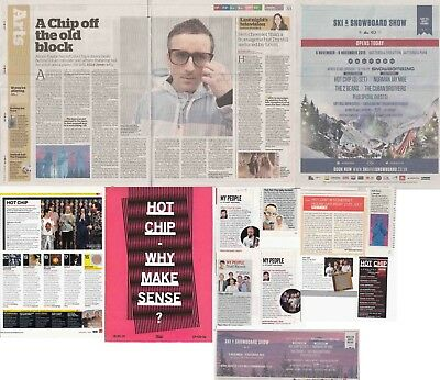HOT CHIP : CUTTINGS COLLECTION -adverts interviews-