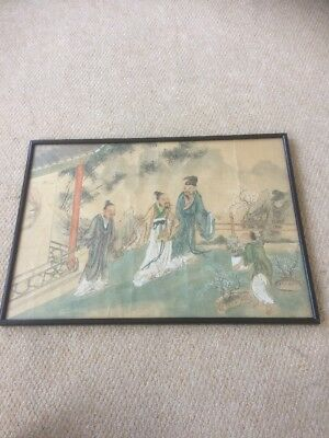 Huge & Fabulous Antique CHINESE PAINTING on Silk 3 Immortal S Wiseman