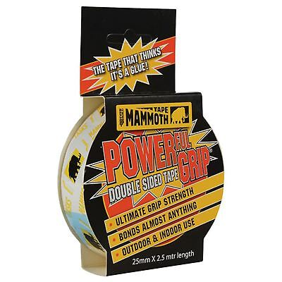 EverBuild 25mm x 2.5m Mammoth Powerful Grip Double Sided Strong Adhesive Tape