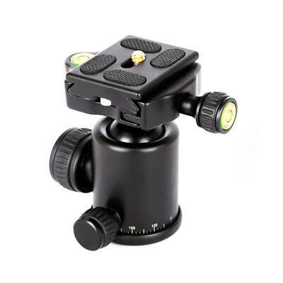 360° Panoramic Swivel Tripod Ball Head With Quick Release Plate For DSLR Camera