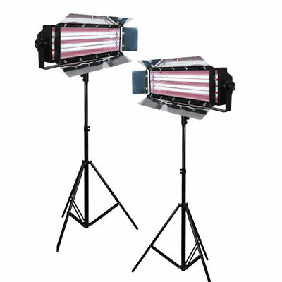 Light Panel Stand Kit Photo Lamp Digital Light Fluroescent 2-Bank Barndoor