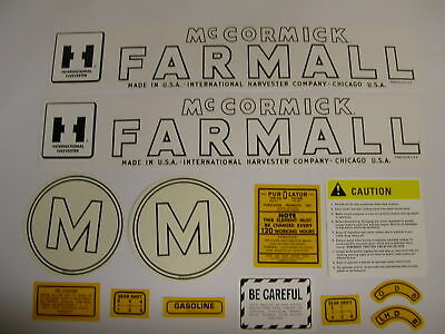 Minneapolis Moline Model GB Tractor Decal Set NEW FREE SHIPPING