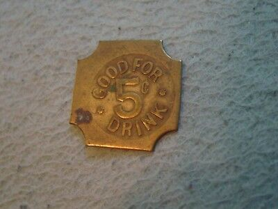 Vintage Trade Token Good for 5 Cent Drink F. Guglilmetti