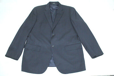Alfani 42R Men's Suit Wool & Cashmere Blue With Stripes Double Vented TS9
