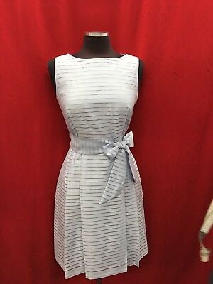 "Anne Klein Dress/white/new With Tag/size 10/length 38""/lined/retail$99/"