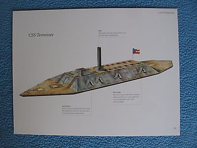 Civil War Confederate Warship Print- CSS TENNESSEE -Largest Confederate Ironclad