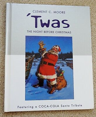 Clement Moore the NIGHT BEFORE CHRISTMAS coca cola santa tribute COKE hb