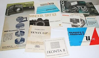 7 Pounds Of Old Instruction Manuals Many Are Unusual Realist Zeiss Contax Minox