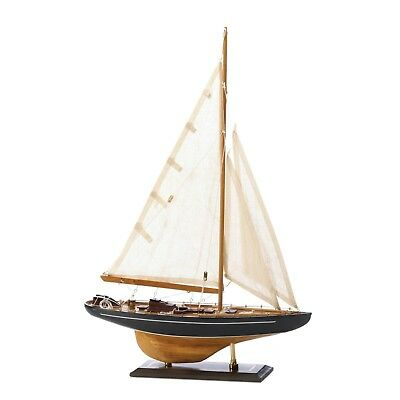 "Bermuda 24"" TALL MODEL SHIP Nautical Sail Boat Wood Canvas Gift Decor SL 14749"