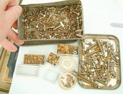 Clock makers Clock screws bolts Old thread screws nice spare clock for repairer