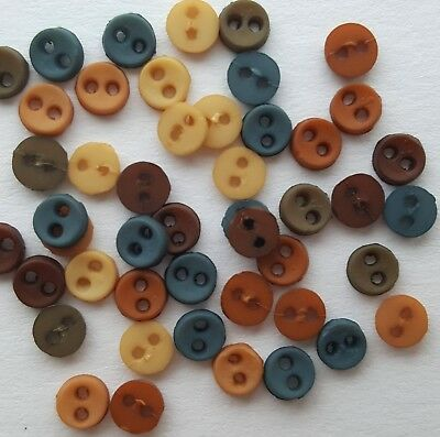 SOUTHWESTERN - MICRO MINI Tiny Round Dress It Up Sewing Quilting Craft Buttons